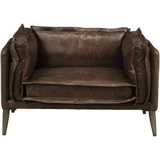Acme Furniture Porchester Chair in Distress Chocolate 52482 image