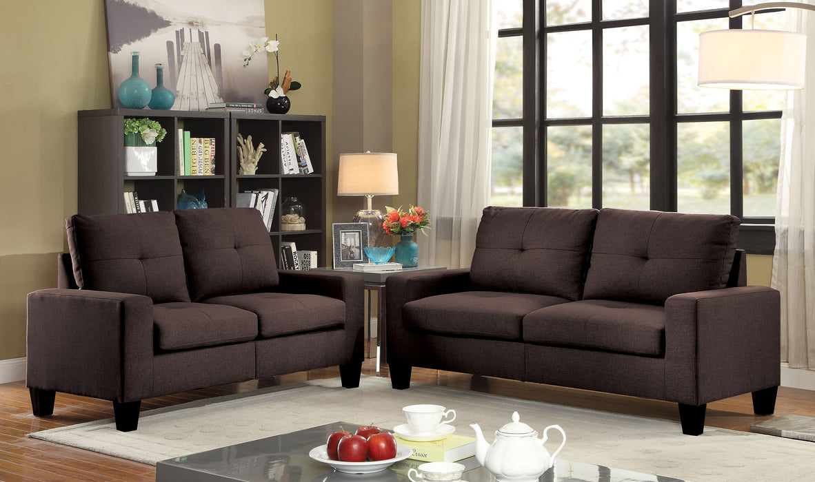 Platinum II Chocolate Linen Sofa & Loveseat image