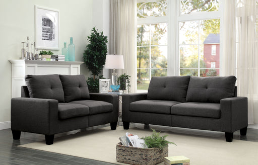 Platinum II Gray Linen Sofa & Loveseat image