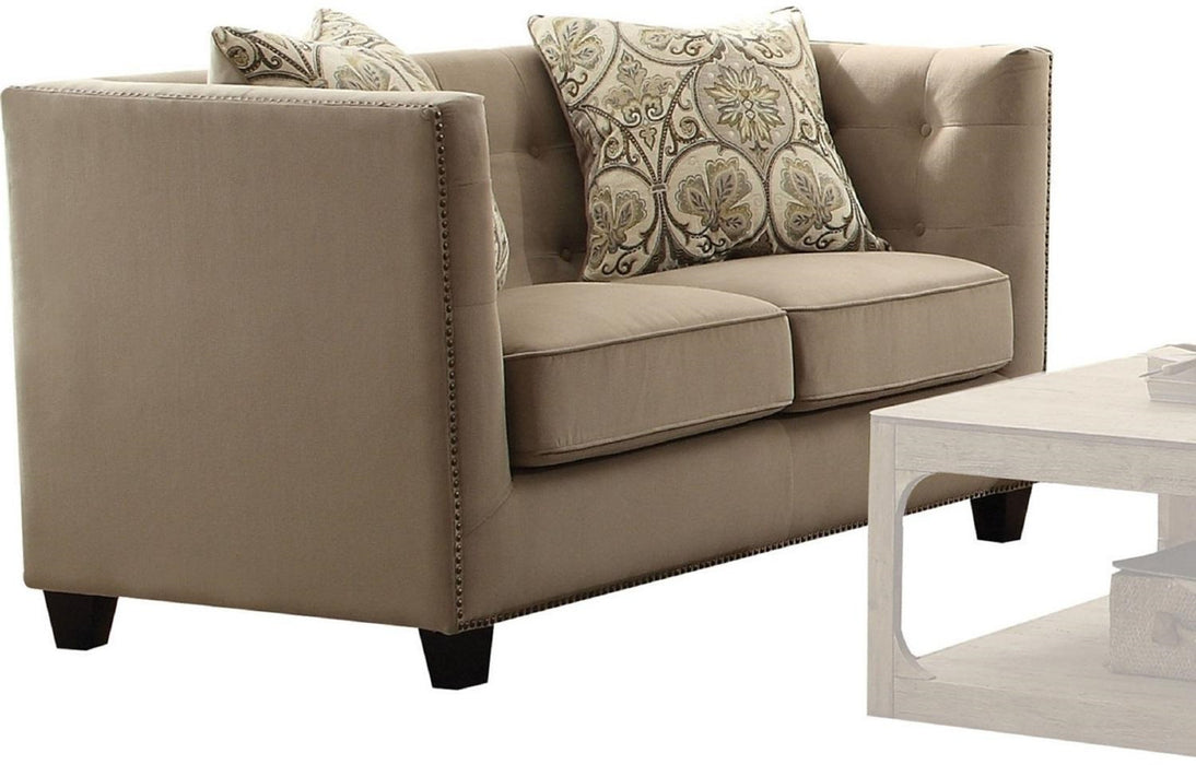 Acme Furniture Juliana Loveseat in Beige 53586 image