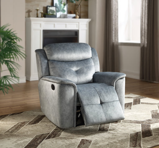 Mariana Silver Blue Fabric Recliner image