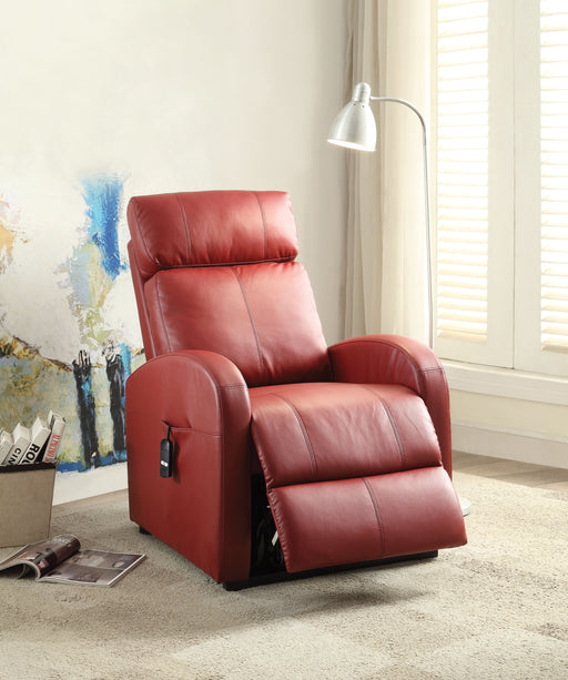 Ricardo Red PU Recliner w/Power Lift image