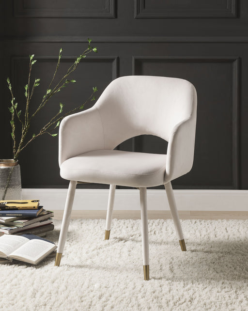 Applewood Cream Velvet & Gold Accent Chair image