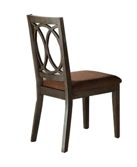 Acme Furniture Jameson Side Chair (Set of 2) in Brown Fabric & Espresso 62322 image