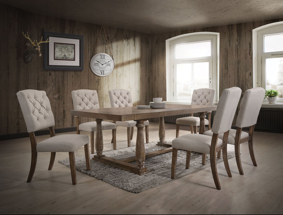 Bernard Weathered Oak Dining Table image