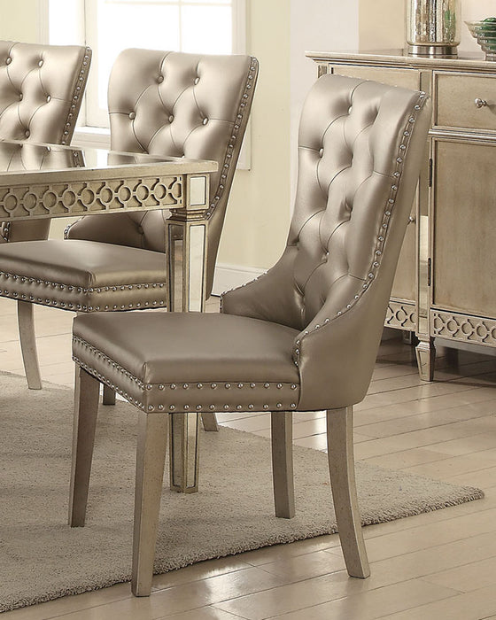 Acme Furniture Kacela Side Chair in Champagne (Set of 2) 72157 image