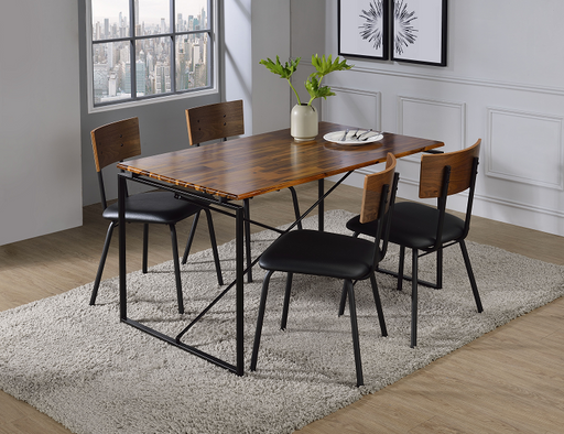 Jurgen Oak & Black Dining Table image