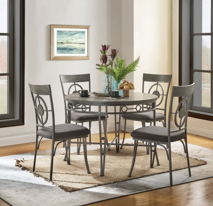 Landis Oak & Gunmetal Dining Table image