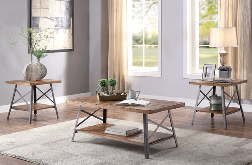 Ikram Weathered Oak & Sandy Black Coffee Table image