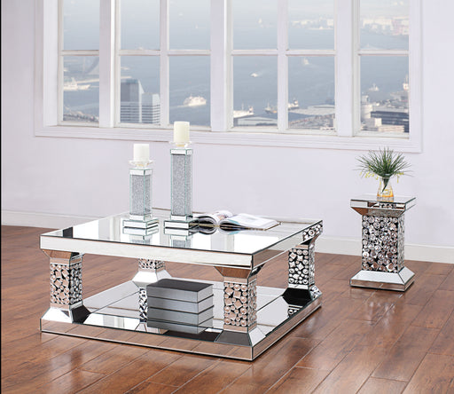 Kachina Mirrored & Faux Gems Coffee Table image