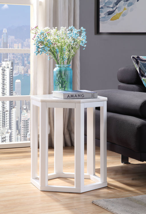 Reon Marble & White End Table (2Pc Pk) image