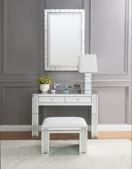 Nysa Mirrored & Faux Crystals Vanity Desk image