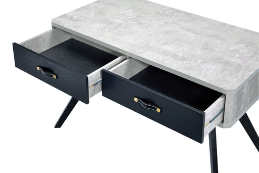 Magna Faux Concrete & Black Desk image