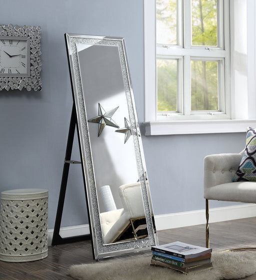 Nowles Mirrored & Faux Stones Accent Mirror (Floor) image