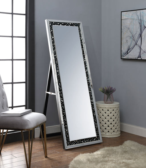 Noor Mirrored & Faux GemStones Accent Mirror (Floor) image