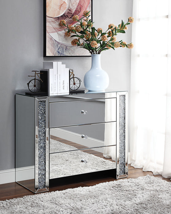 Noralie Mirrored & Faux Diamonds Console Table image