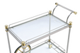 Cyrus Silver/Gold & Clear Glass Serving Cart image