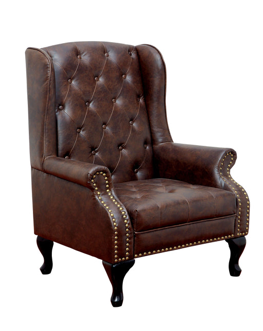 VAUGH Rustic Brown Accent Chair image