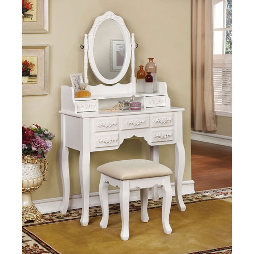 Harriet White Vanity w/ Stool image
