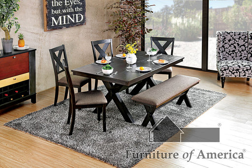 XANTHE Black 7 Pc. Dining Table Set image