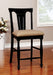 SABRINA Black Ctr Ht. Chair, Cherry & Black (2/CTN) image