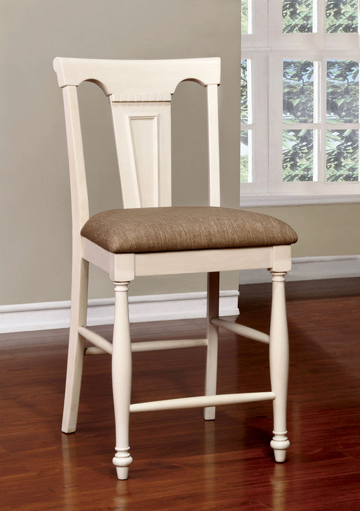 SABRINA Off White/Cherry Ctr.Ht. Chair, Cherry & White (2/CTN) image