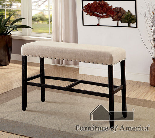 SANIA II Antique Black/Beige Bar Ht. Bench image