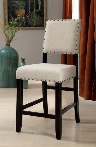 Sania II Antique Black/Beige Counter Ht. Chair (2/CTN) image