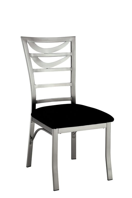ROXO Silver/Black Side Chair (2/CTN) image