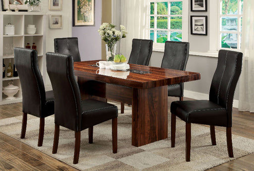 BONNEVILLE I Brown Cherry 7 Pc. Dining Table Set image
