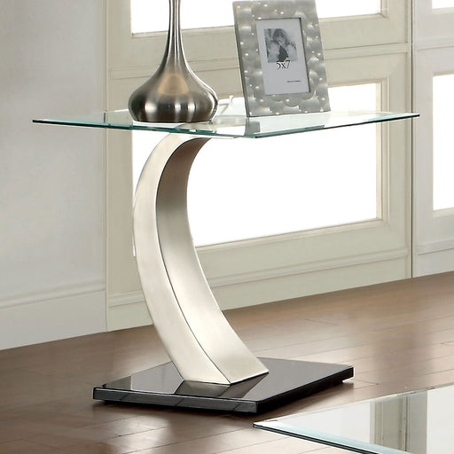 ROXO Satin Plated/Black End Table image
