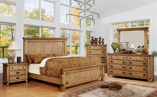 CARLSBAD Weathered Elm 5 Pc. Queen Bedroom Set w/ Chest image