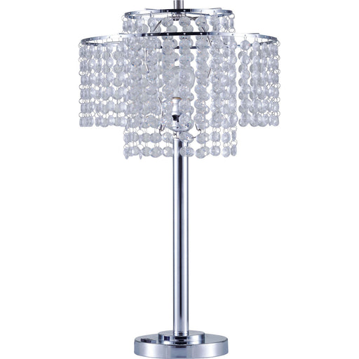 "Kaitlyn Chrome 12""H Crystal Chrome Table Lamp image"