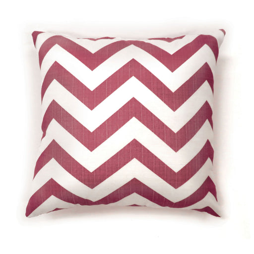 "Zoe Red Chevron 18"" X 18"" Pillow, Red Chevron (2/CTN) image"