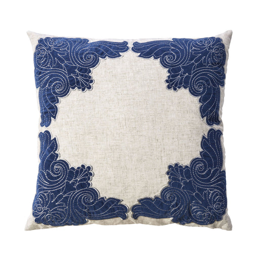 "Beth Natural/Indigo 20"" X 20"" Pillow, Natural & Indigo (2/CTN) image"