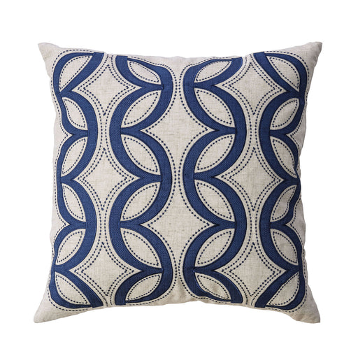 "Teri Natural/Indigo 20"" X 20"" Pillow, Natural & Indigo (2/CTN) image"