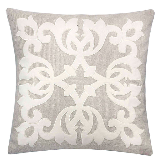 "Trudy Light Beige 20"" X 20"" Pillow, Ecru image"