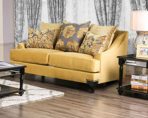 Viscontti Gold/Gray Love Seat, Gold image