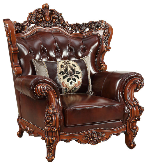 Acme Furniture Eustoma Chair in Cherry and Walnut 53067 image