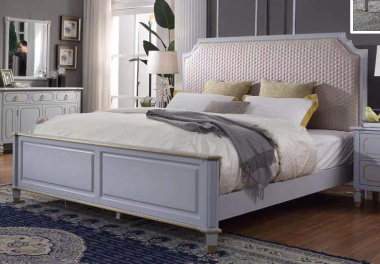 Acme Furniture House Marchese Queen Panel Bed in Pearl Gray 28880Q image