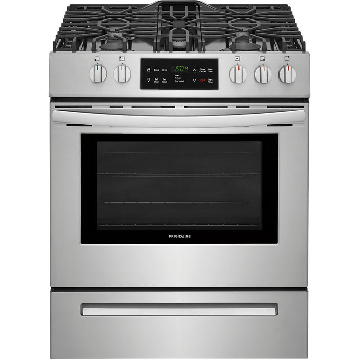 "Frigidaire 30"" Gas Freestanding Range Front Cntrl Cont Grates  Self-Clean ADA"