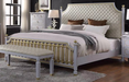Acme Furniture House Marchese Queen Low Post Bed in Pearl Gray 28890Q image