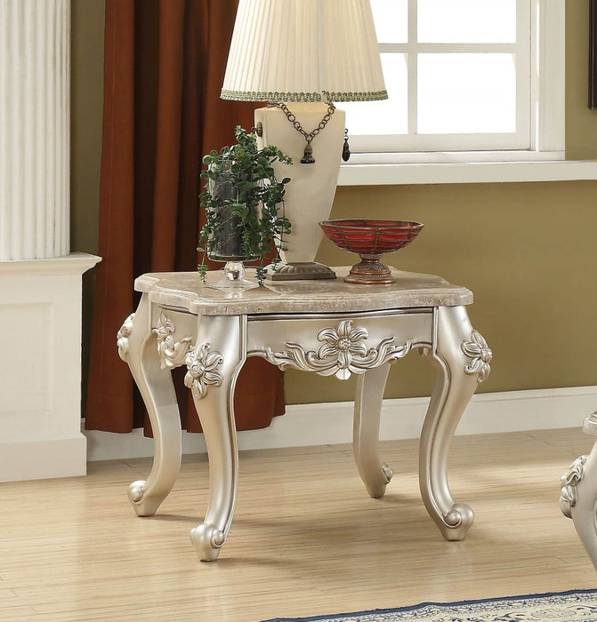 Acme Furniture Ranita End Table with Marble Top in Champagne 81042 image