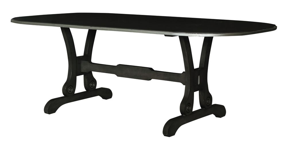 Acme Furniture House Beatrice Dining Table in Charcoal 68810 image