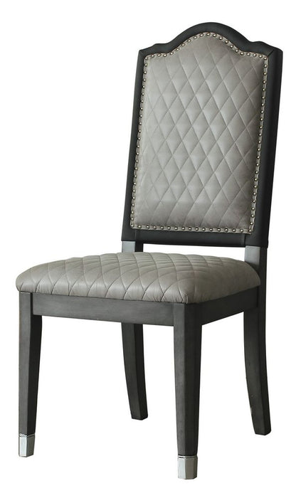 Acme Furniture House Beatrice Side Chair in Charcoal (Set of 2) 68812 image