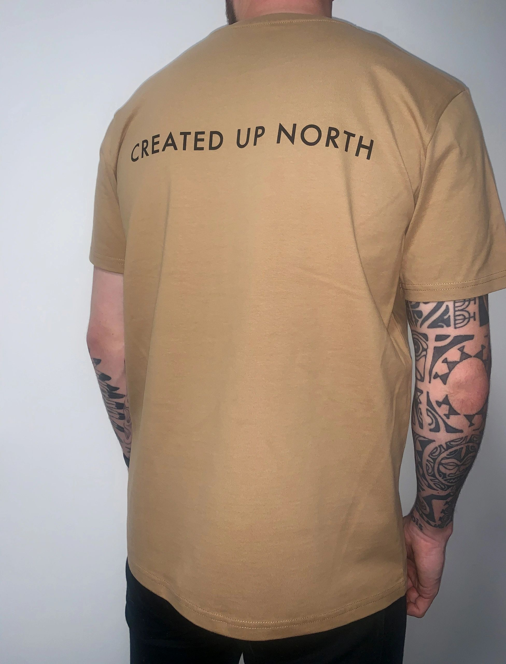 Created up North camel T-shirt