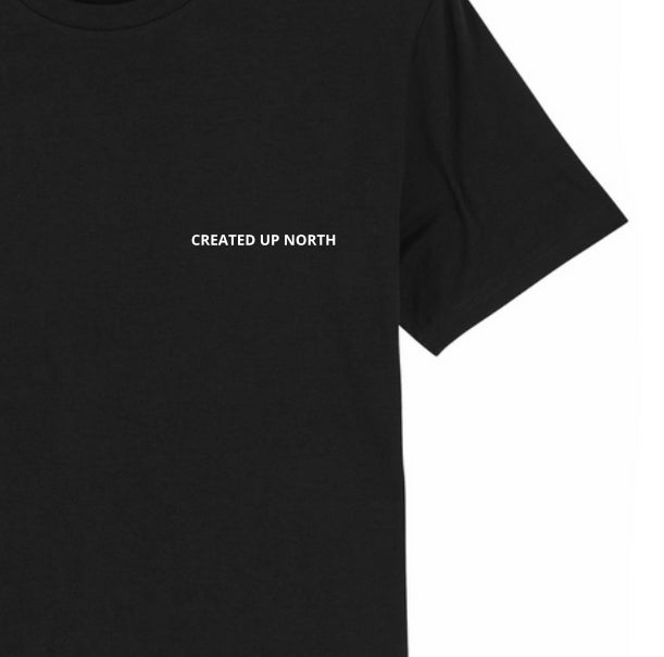 Created Up North Unisex Black T-shirt