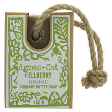 Load image into Gallery viewer, Agnes + Cat Soap On Rope - 1 X 150g