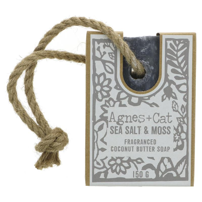 Agnes + Cat Soap On Rope - 1 X 150g
