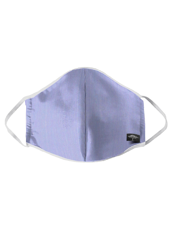 Fynch Hatton - Blue Striped Cotton Face Mask